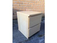 IKEA Malm bedside table, two drawers