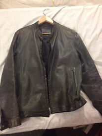 Mens genuine leather jacket size small