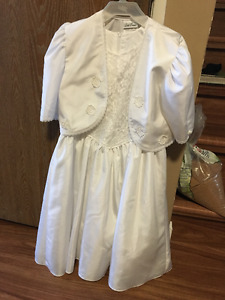 White First Communiion Dress with jacket