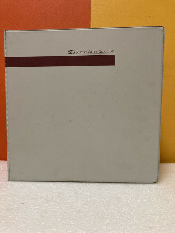 Silicon Valley Group 15-08600 8626PC Photoresist Coater Ops/Maintenance Manual