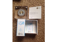 Peter Rabbit Silver Proof Royal Mint Coin Beatrix Potter 150th Anniversary