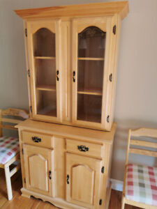 Solid wood China cabinet