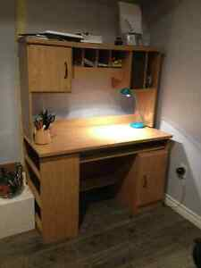 student desk with shelving unit in very good condition