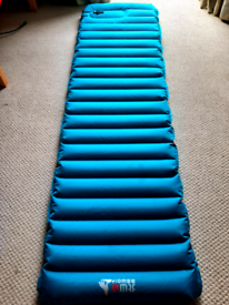 Single inflatable camping mat