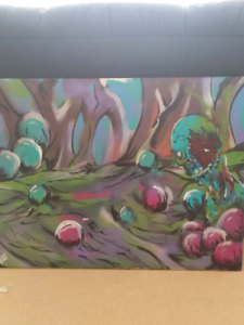 Zombie swamp painting Farrer Woden Valley Preview