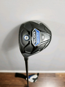Left hand Taylormade SLDR 5 wood, regular flex shaft.