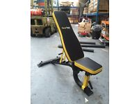 New Fitness Gym Adjustable Utility Bench Flat Incline Decline 300Kgs Max Load Barbell Dumbbell