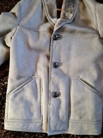 Sheepskin/lambskin leather coat XL