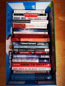 Box of books: Business, marketing, social media and more