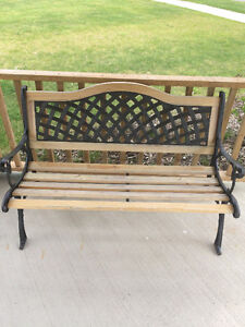 Wrought Iron & Wood Benches