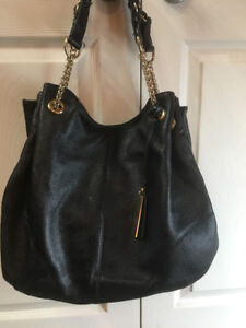 vince camuto authentic black leather handbag -BAG  # 25