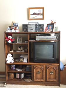 TV stand and bookcase