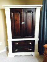 Refinished antique armoire dresser