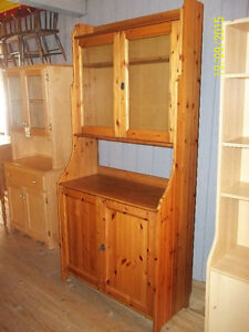 Ikea Pantry/China Cabinet Cupboard with Upper Glass and Bottom