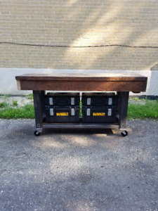 "4x4 Steel + 2"" wood work bench"