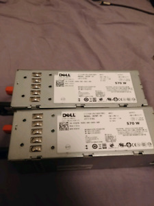 2x dell r710 570W Power supplies