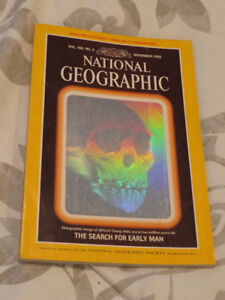 """""""THE SEARCH FOR EARLY MAN"""" 1985 Hologram Issue of early man"""