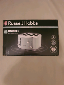 Brand new russell hobbs bubble 4 slice toaster green