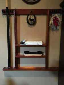 Wall mount Pool Cue Holder