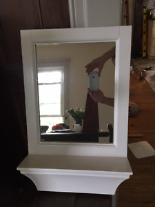 Cute little mirror with shelf