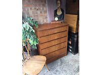 MID CENTURY VINTAGE CHEST OF DRAWERS FREE DELIVERY