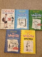 Hardcover books of diary of wimpy kid.