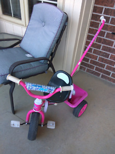Tricycle for girl with parent handle
