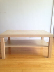 An IKEA coffee table
