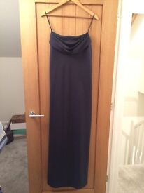 Onyx Full length Blue Dress / ball gown size 14