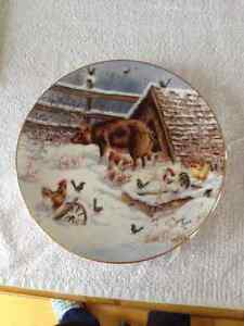 COUNTRY CHRISTMAS 1993 LOWELL DAVIS PLATE