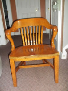 Solid wood captains chair