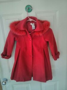 SIZE 4 GIRLS RED COAT