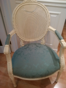 Gorgeous Louis spider web cane back chairs