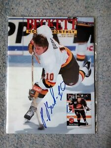 Pavel Bure Autographed Beckett Magazine and Lithograph