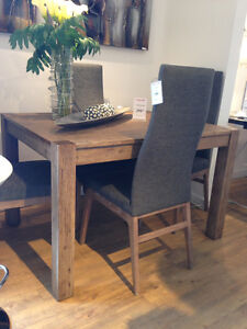 MOVING SALE! Solid wood dining table + 4 chairs