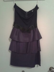 Purple & Black Strapless Dress for Sale!!! London Ontario image 1