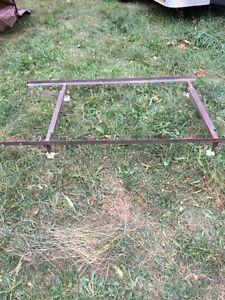 Adjustable steel bed frame
