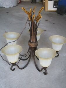 Ceiling light Chandelier from Log /  Country House