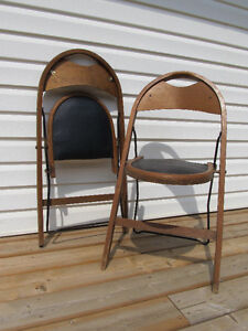 Vintage 1920's-30's folding chairs