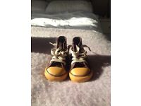 Infant size 5 brown converse boots