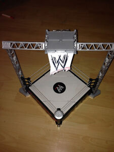 WWE Wrestling Ring AND TWO figures!!!!
