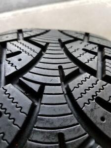 225 60 16 Winter Tires on 5x115 Rims. Very Good Tread