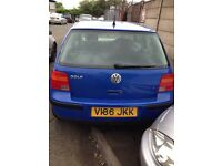 1999 VW GOLF SE VOLKSWAGEN BLUE 1.6 5DR HATCHBACK PETROL**BEARKING**