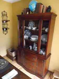 Antique Cherry China Cabinet