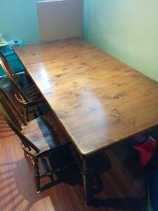 Solid Pine Dining Room Table