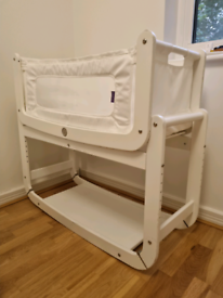 SnuzPod 2 bedside crib with mattress and cover