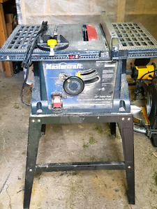 "Mastercraft 10""  table saw"