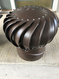 12 inch Diameter Base Turbine Whirly Bird Vent for roof