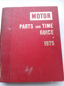 """""""Motor"""" Parts and Time guide 1975"""