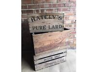 3 X LARGE VINTAGE ANTIQUE WOODEN BOXES FREE DELIVERY